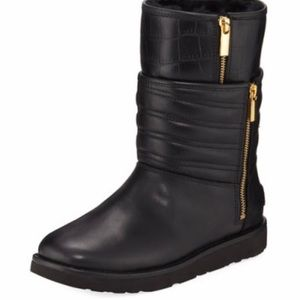 Ugg Aviva Layered Leather Boots